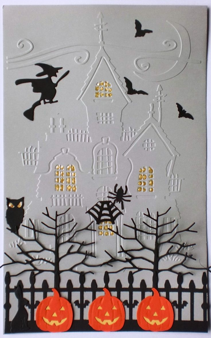 ... used a cuttlebug embossing folder i thought the happy hauntings folder