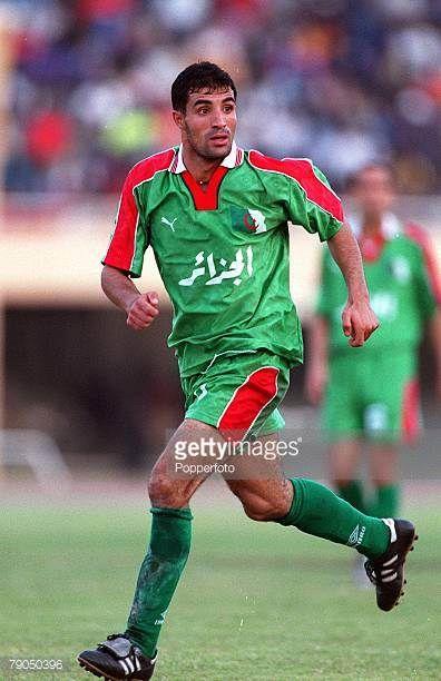 Football 2002 World Cup Qualifier African Second Round Group C 21st April 2001 Dakar Senegal Senegal 3 v Algeria 0 Algeria's Issaad Bourahli