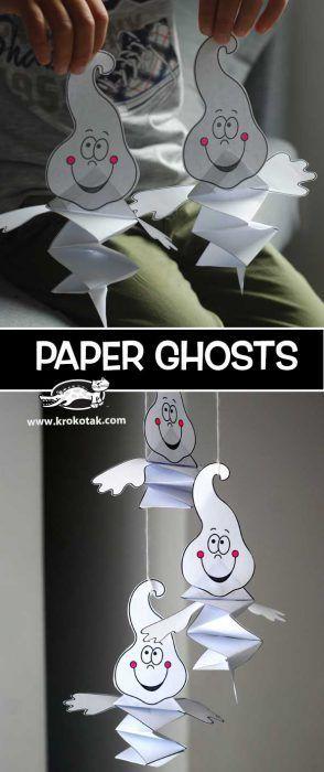 Papiergeistkinderhandwerk Halloween – Halloween