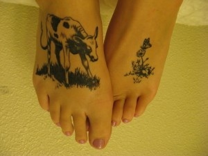 A ferdinand the bull tattoo....one of my favorite childhood books