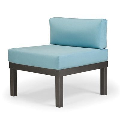 Telescope Casual Ashbee Sectional Armless Chair with Cushion Finish: Textured Snow, Fabric: Strickland