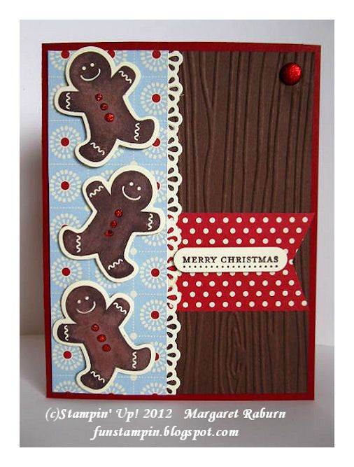 Fun Stampin' with Margaret! - Gingerbread men from SU's Scentsational Season set