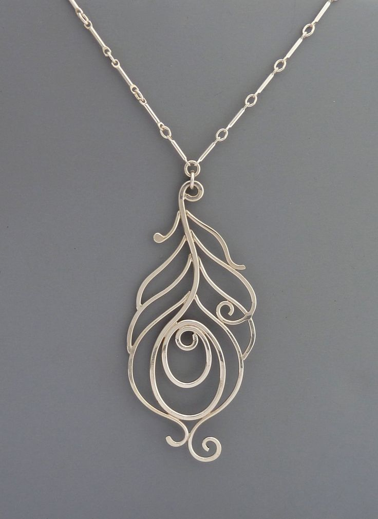 Sterling Silver Peacock Necklace, Rachel Wilder Handmade Jewelry. $92.00, via Etsy.