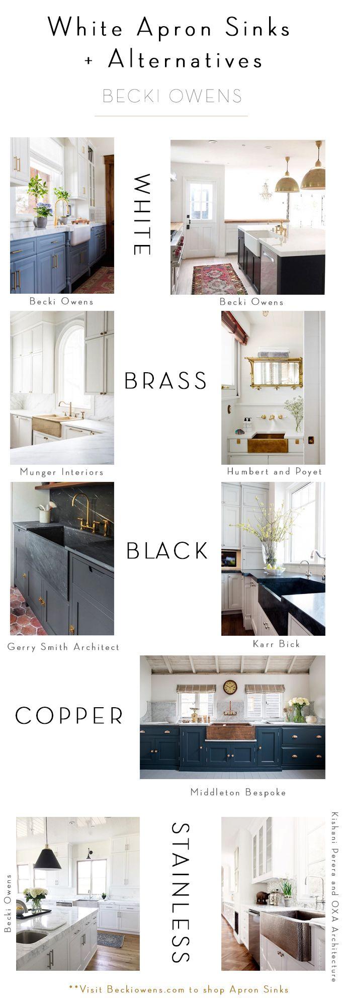 BECKI OWENS- White Apron Sink + Alternatives