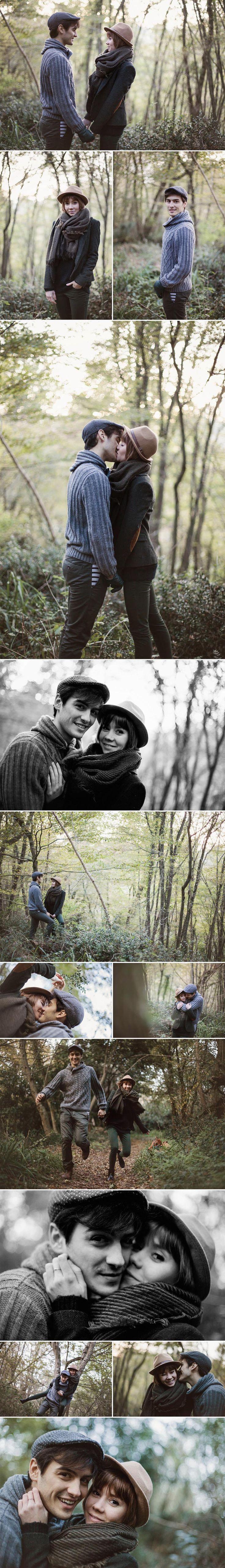 Tiffany & Julien // Séance photo couple hiver // Sarah Miramon Photographe #couple #LoveSession #hiver #foret #lifesyle #photo #photographe #bordeaux