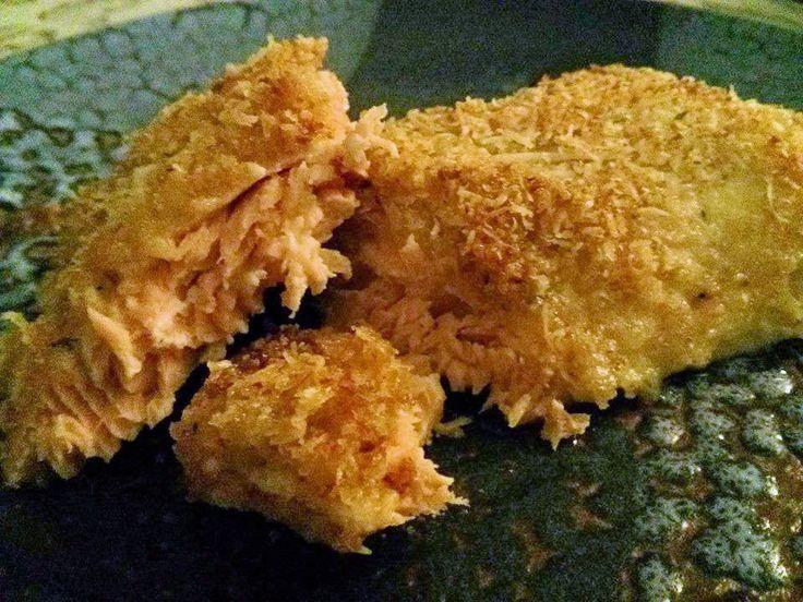 His Domesticated Culinarian: Parmesan Crusted Salmon and Pasta Salad