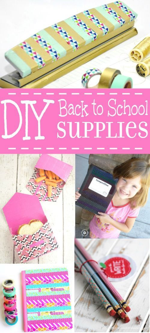 24 DIY Back to School Supplies ideas and organization - My favorite part about back to school is the new school supplies, and these are so cute! I bet the kids would love to help DIY too.