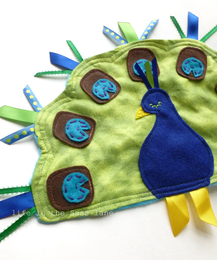 peacock taggie