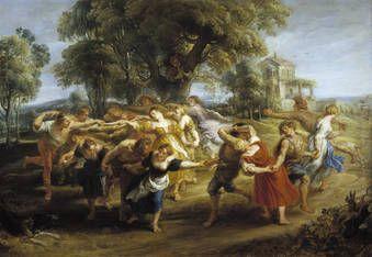 Pedro Pablo Rubens, Danza de personajes mitológicos y aldeanos, 1630-1635, oil, @museodelprado, Madrid #dance