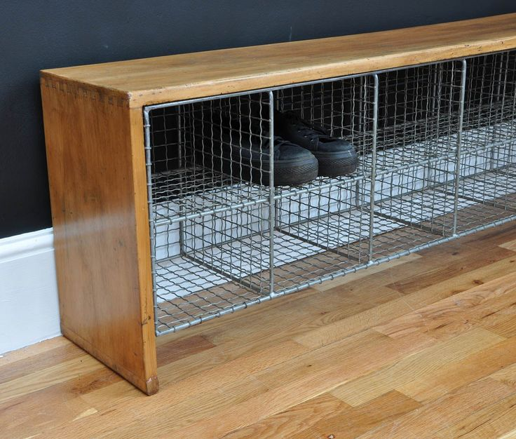 Vintage Industrial Shoe Bench - Bring It On Home