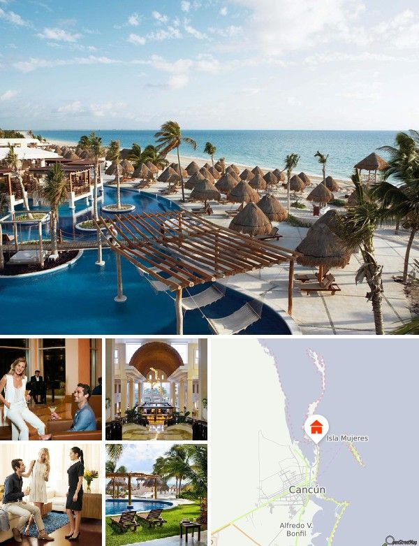 Le complexe est situé dans une station balnéaire abritant une marina, un spa exceptionnel et un parcours de golf donnant directement sur les Caraïbes, conçu par le prestigieux joueur de golf australien Greg Norman. Les visiteurs y découvriront le luxe d'une formule tout compris dans un environnement caribéen de toute beauté: la dernière destination de luxe à la mode de Cancún. Le complexe se trouve dans une péninsule encore intouchée de 30 km² qui, bien que située à seulement 25 min au nord…