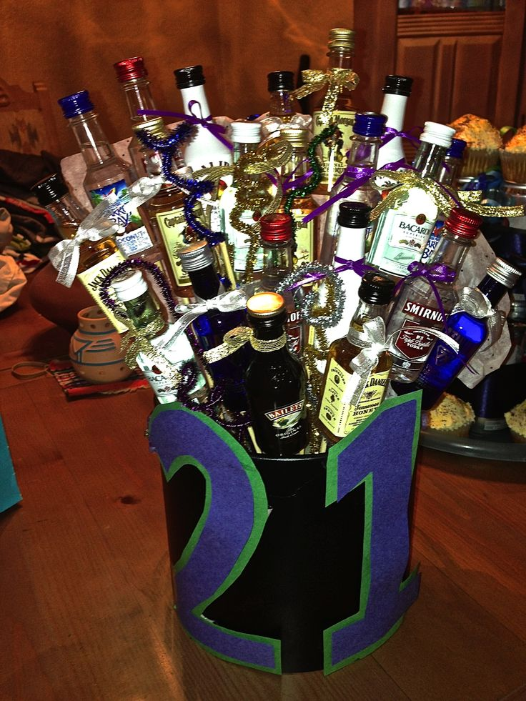21st Birthday Gift For Guys I Got 21 Of The Trial Sized Alcohol Bottles