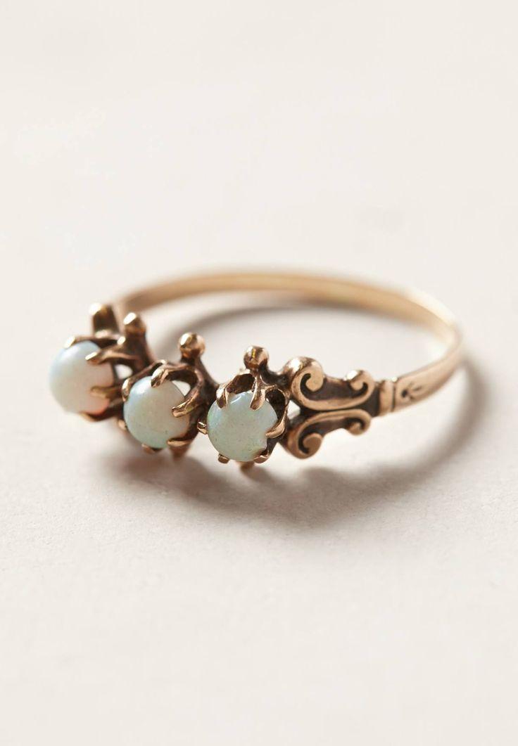 Opal scroll ring