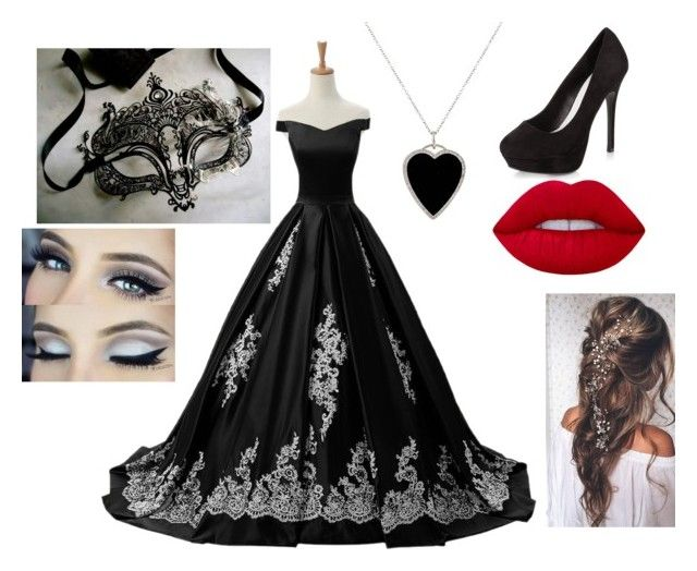 """Masquerade beauty"" by kirsty-french on Polyvore featuring Reception, New Look, Jennifer Meyer Jewelry, Masquerade and Lime Crime"