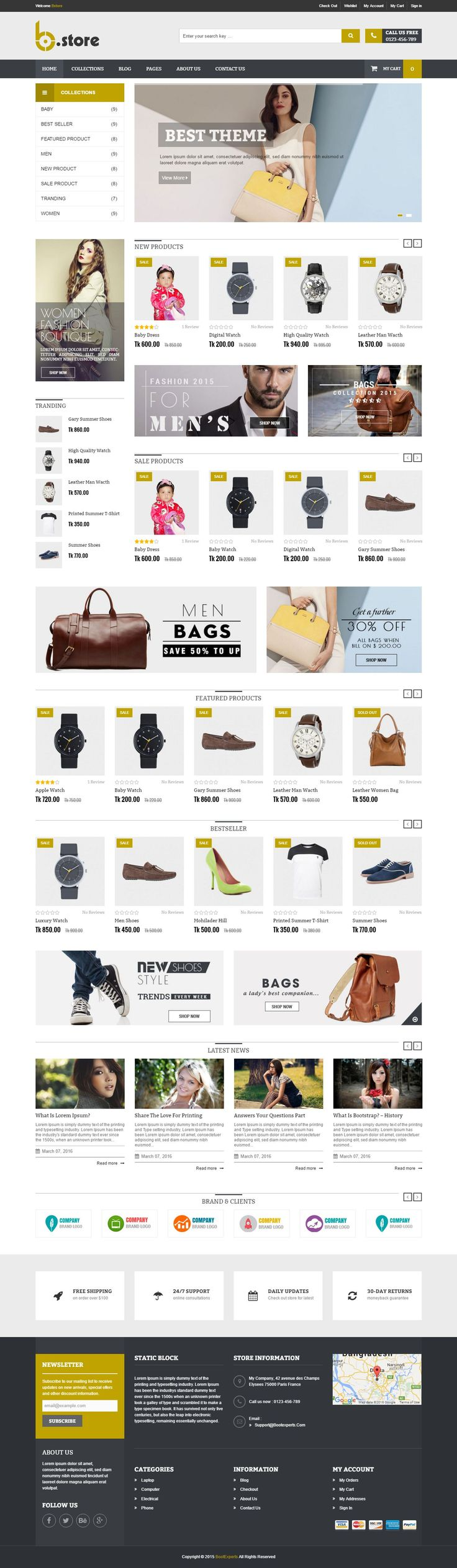 BStore – Responsive eCommerce #Shopify Theme is specially designed for any kind of online shops: clothes, digital, shoes, jewelries, bags, accessories, fashion, and so on. #eCommerce #store #website #themes