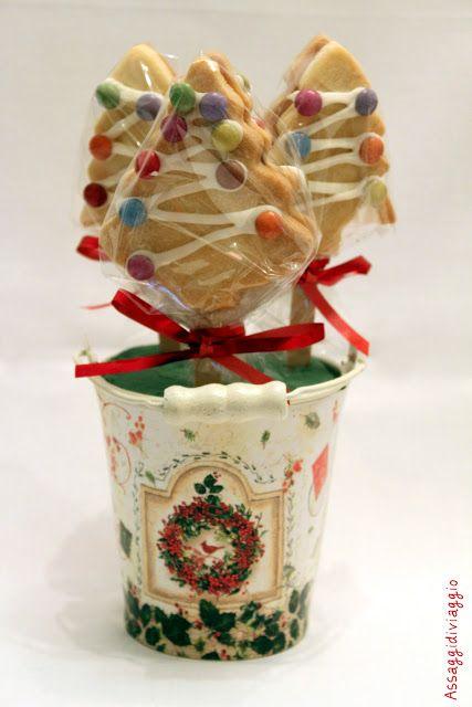 Assaggidiviaggio: Un boschetto delizioso: biscotti natalizi su stecco