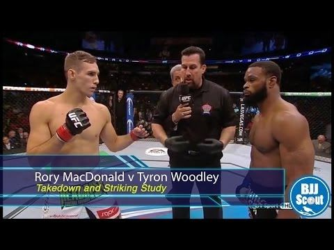 BJJ Scout: Rory MacDonald v Tyron Woodley Post-Fight Study - Takedowns and Striking - YouTube