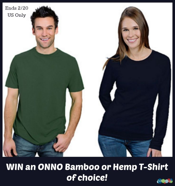 #Win an ONNO Organic Bamboo or Hemp T-Shirt of choice! - ends 2/20 US Only