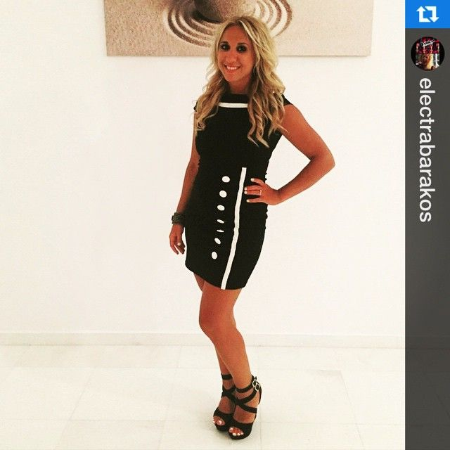 #black #chic #button #dress for my #special @electrarocks