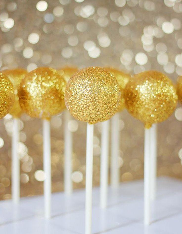 Cake pops pailletés - Paillettes : comment donner un air de fête à ses plats ?…