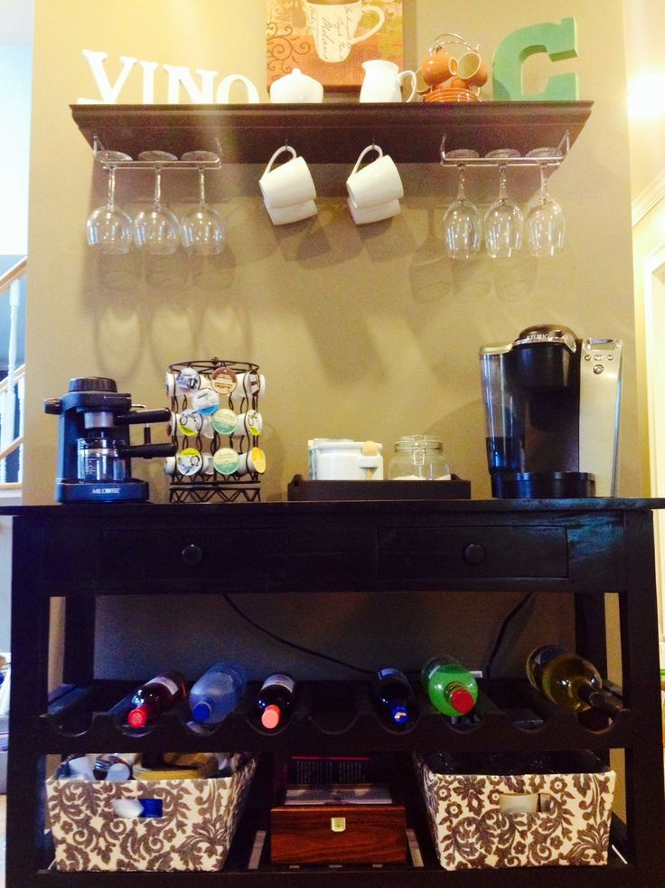 17 best ideas about wine station on pinterest things for Things in a coffee bar