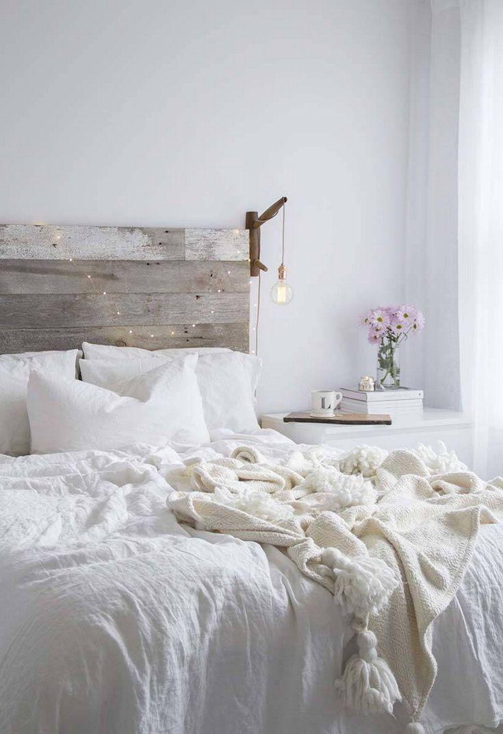 Modern And Stylish Rustic Scandinavian Bedroom Decor (12)