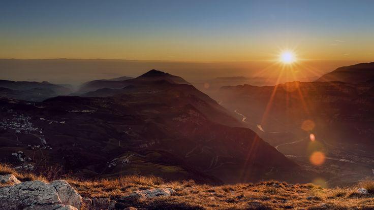 Lessinia - Un tramonto invernale sulle Alpi Veronesi