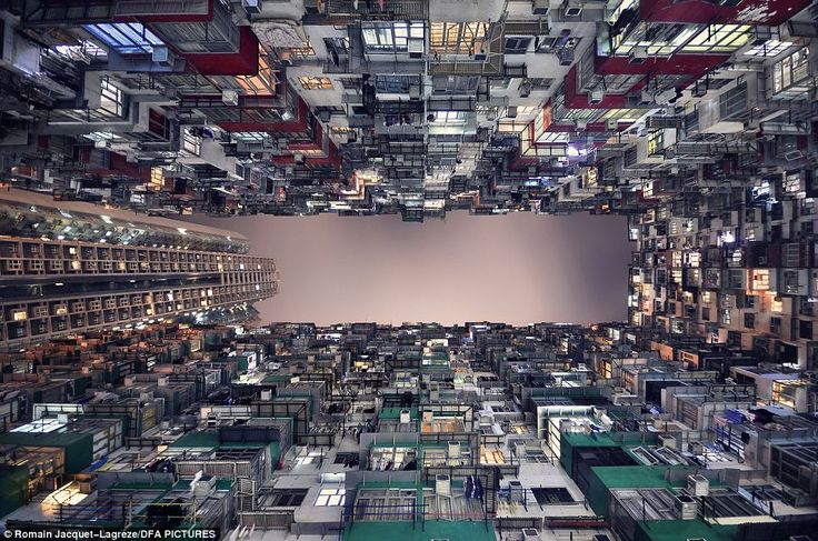 Hive of humanity: Mr Jacquet-Lagrèze says said it's the geometry of the urban environment and the vivid lives it shelters are the aspects of Hong Kong that inspire him most
