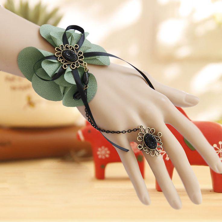 Принцесса Лолита модные Аксессуары лук браслет с ер ен ос набор партия женский аксессуар ленты браслет