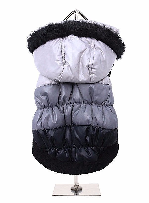 Urban Pup Thermo Grey / Black Quilted Parka Dog Coat