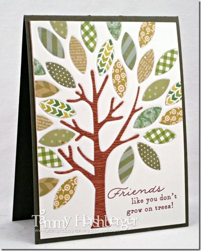 Friends like you don't grow on trees - card by Tammy Hershberger