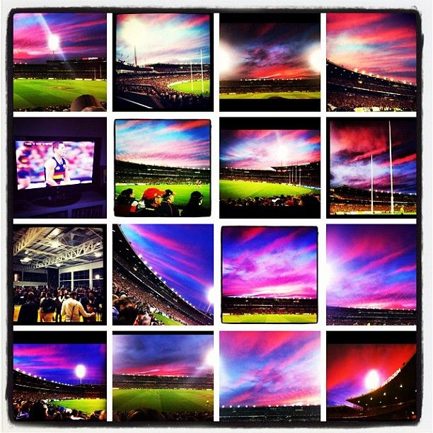 Instagram photo by @adelaide_fc of sunsets at AAMI Stadium taken by fans