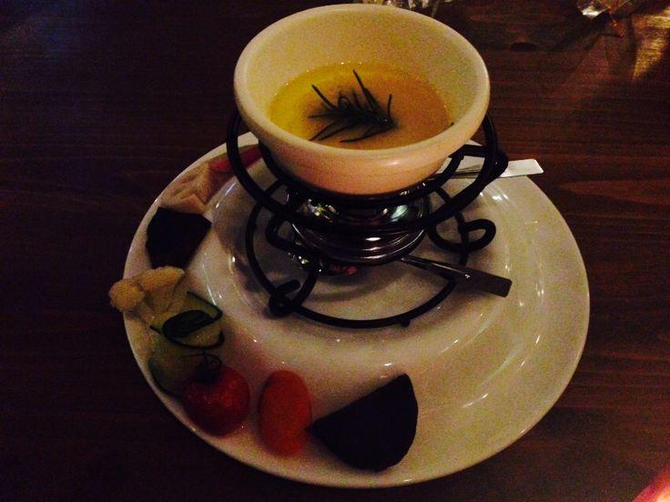 冬温野菜のバーニャカウダ 塩麹ソース @mother earth cafe