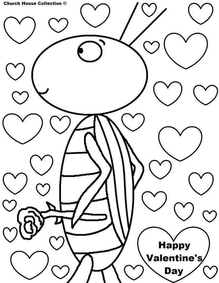 40 best February & Valentine Coloring sheets images on Pinterest ...
