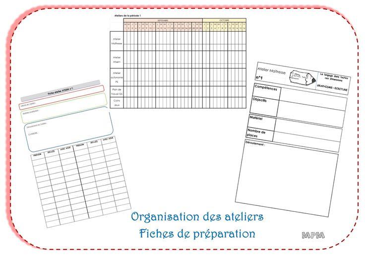 Organisation et planification des ateliers en maternelle