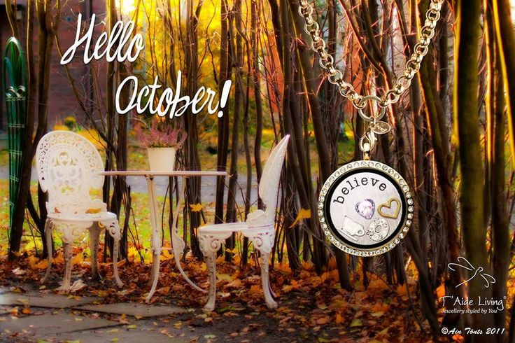 Hello October! Let's celebrate the autumn with beautifyl T'Aide Living Lockets!