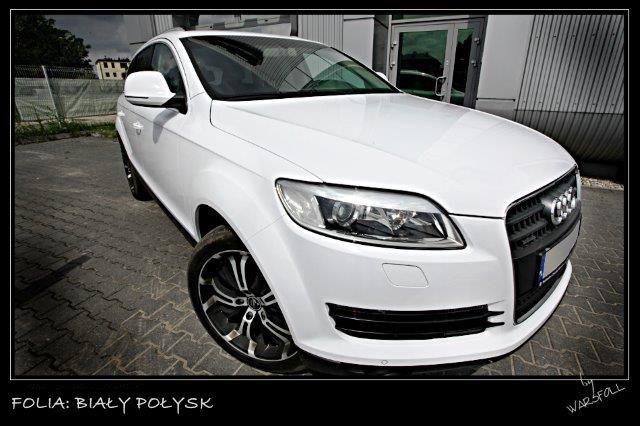 [Folia: Biały Połysk] Folie samochodowe - Zmiana koloru auta | Warsfoll.com.pl