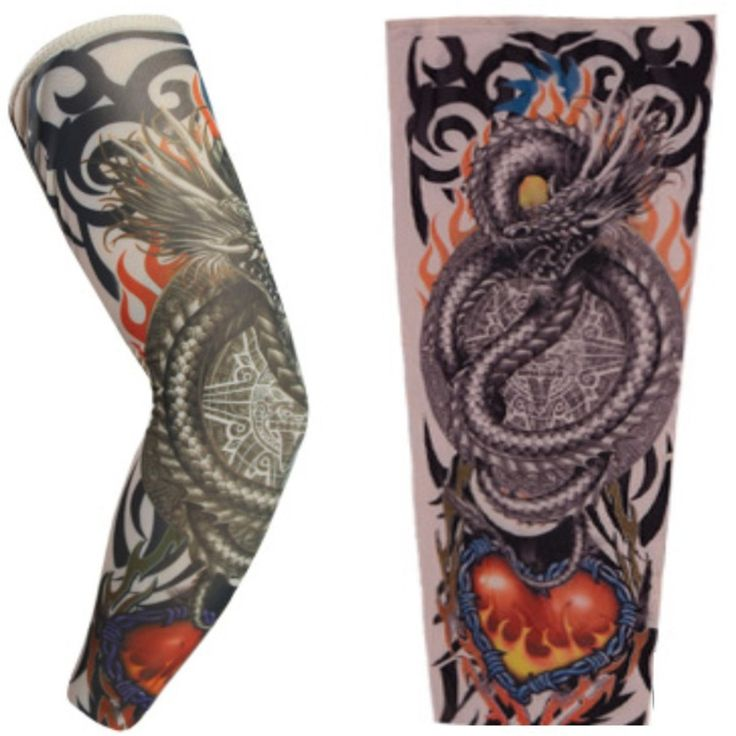 Дизайн моды Поддельные Татуировки Рукава 1 Шт. Мужчины Женщины Поддельные Body Art Временные Татуировки Рукава Фестиваль Тела Рука Нога Хэллоуин чулок #women, #men, #hats, #watches, #belts, #fashion, #style