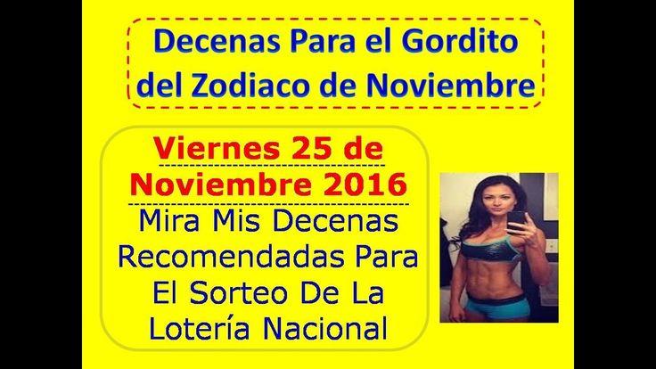 Piramide Decenas Loteria Nacional Gordito del Zodiaco Noviembre 2016 Juega Viernes 25 Noviembre