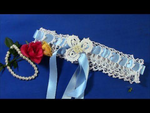 ▶ Irish Crochet Basics, an Easy Wedding Garter - YouTube