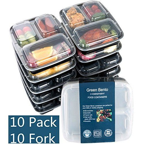 Best Meal Prep Containers Set- Bento Lunch Boxes/ Restaurant Food Storage- Portion Control-7pk,36oz