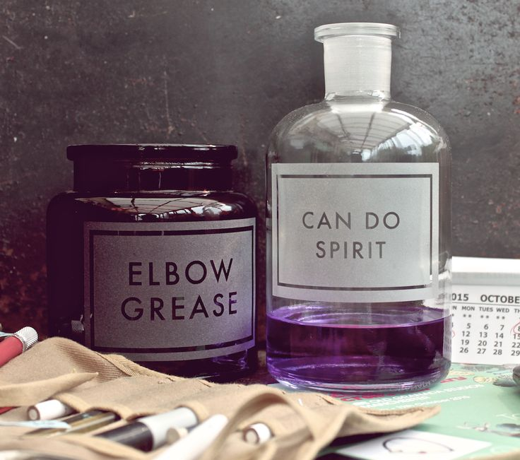[howtoachievedeadlines]  etched apothecary jars for those up against it by www.vinegarandbrownpaper.co.uk