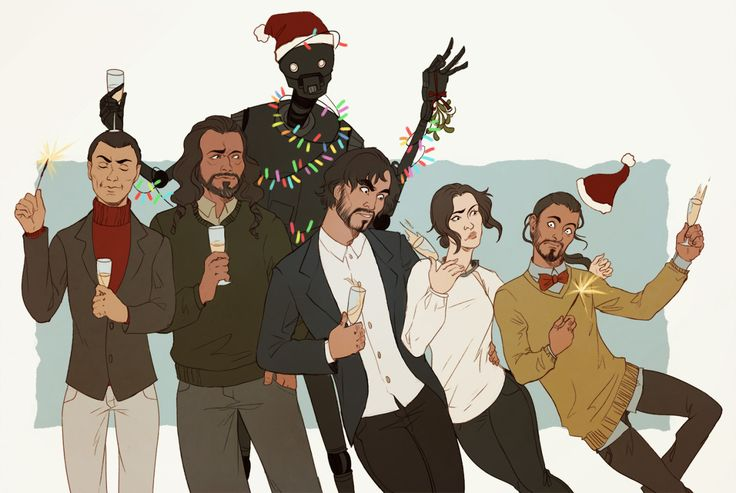 Happy Holidays! [2] Now with Rogue One crew, because they are 2016 crew who deserve better. All of us deserve better in 2017.