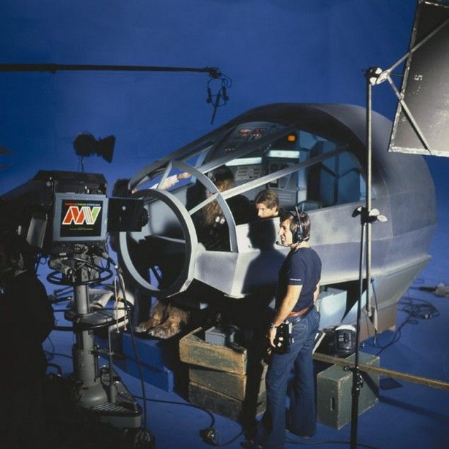 Behind the scenes: Movies Scene, The Holidays, Movies Sets, Historical Photo, Millennium Falcons, Stars War, Art Prints, Classic Movies, Rare Photo