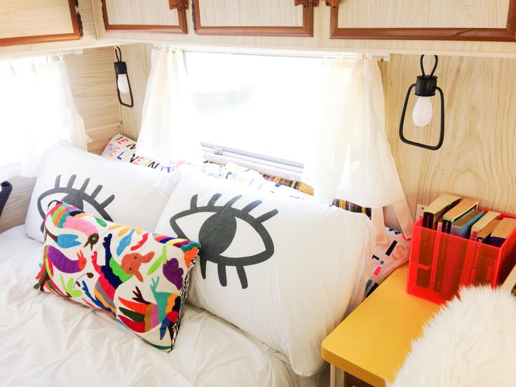 Ikea hack: We amped up the brightness on these ikea Strala decorative lanterns so we could use them as super cute caravan bedside lamps.