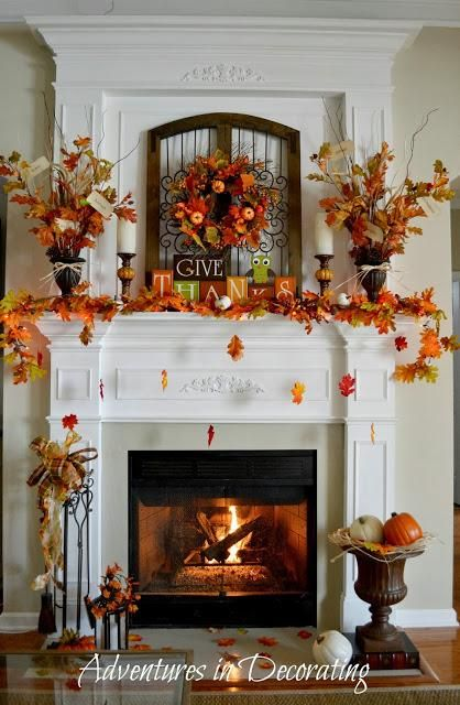 Autumn decorations : IDEAS & INSPIRATIONS   Our Fall Mantel