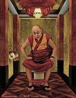 """E o final da obra não podia ser encerrado com alguém que não fosse o dalai lama. Conhecido pela ideologia de paz e igualdade como menciona na sua conhecida frase """"Se conseguirmos deixar de lado as diferenças, creio que poderemos nos comunicar, trocar ideias e compartilhar experiências com facilidade"""", dalai expressa o contexto da obra de Guggeri que pretendeu com a sátira explicar que somos tão diferentes e ao mesmo tempo tão iguais"""