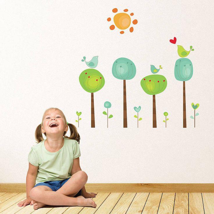 Childrens Bird Tree Wall Stickers