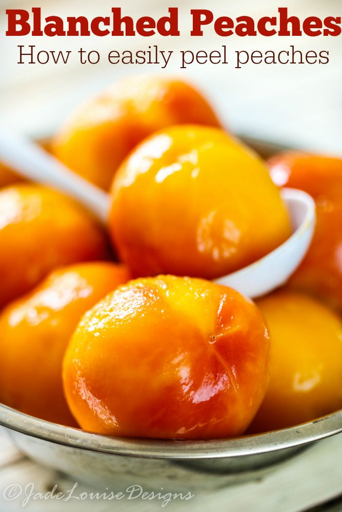 How to Peel Peaches easily, Blanched Peaches are perfect for when you harvest your Peaches to prep for freezing, pies, fruit leather or even Canning Peaches.