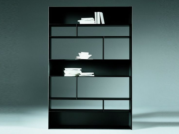 Open sectional metal bookcase LIGHTPIECE | Bookcase - FLEXFORM